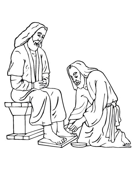 Jesus Washes Feet Coloring Page Coloring Home Jesus Washes The Disciples Coloring Page