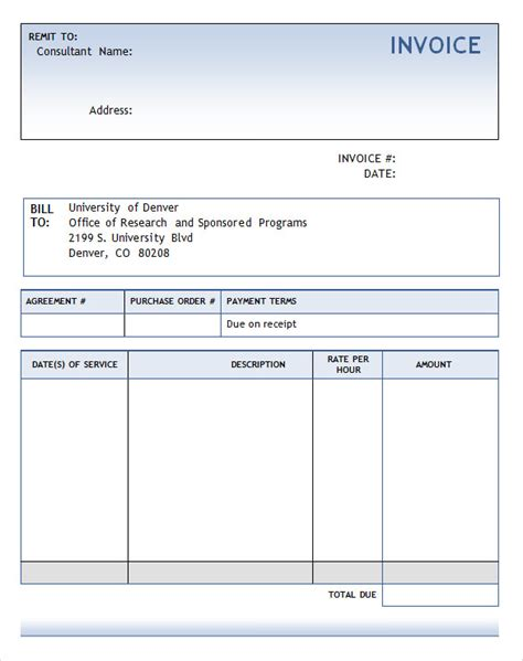 template word consulting invoice template 7 free for word pdf