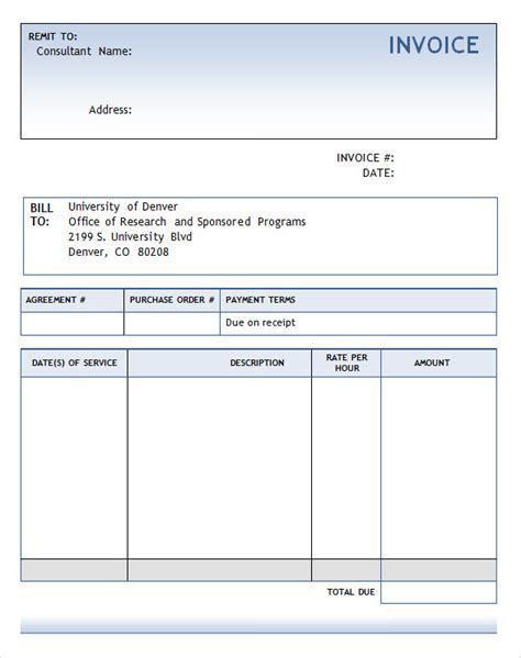 Free Download Invoice Template Word UN Mission - Invoice template word