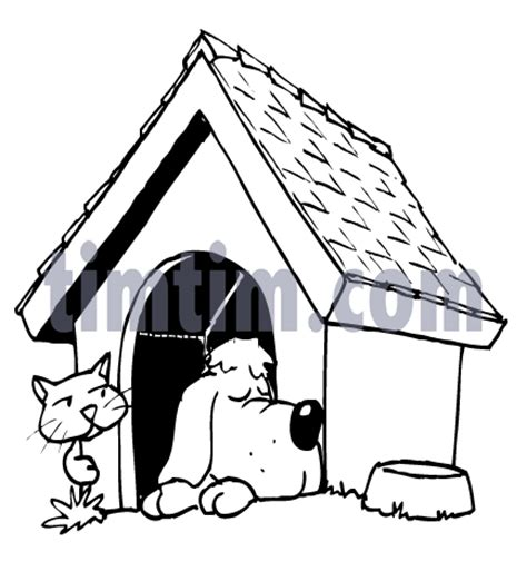 dog house drawing free drawing of a dog house bw2 from the category pets timtim com