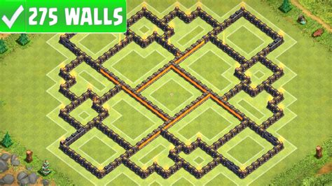 best wall pattern clash of clans clash of clans new best town hall 10 th10 farming