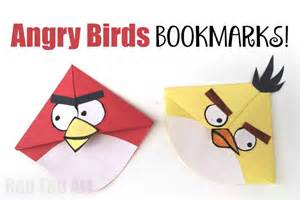 Christmas Paper Crafts Kids - angry bird crafts easy bookmark corners red ted art s blog