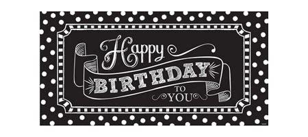 Banner Happy Birthday Black White black white birthday supplies city