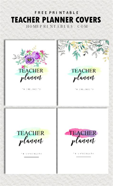 printable planner covers free teacher planner printables 35 organizing sheets