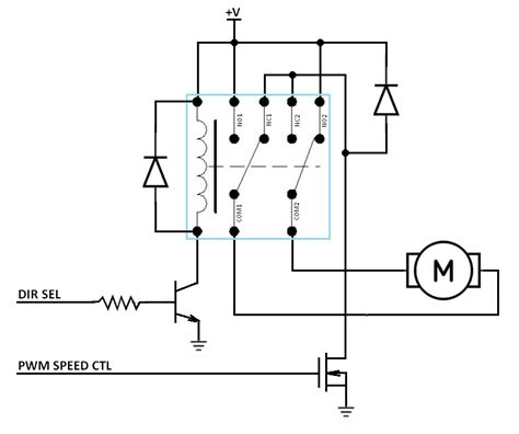 transistor mosfet pwm can i use a transistor and a relay in conjunction to the speed and directional rotation