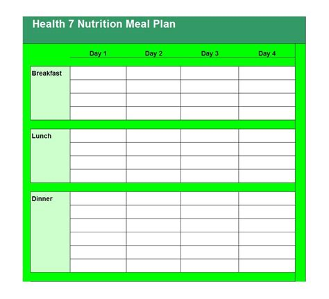 free meal planning templates over 20 to choose from faithful