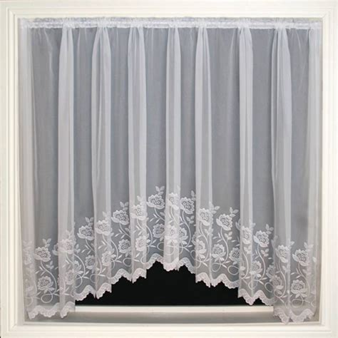 embroidered voile curtains uk freya white embroidered voile net curtain 2 curtains