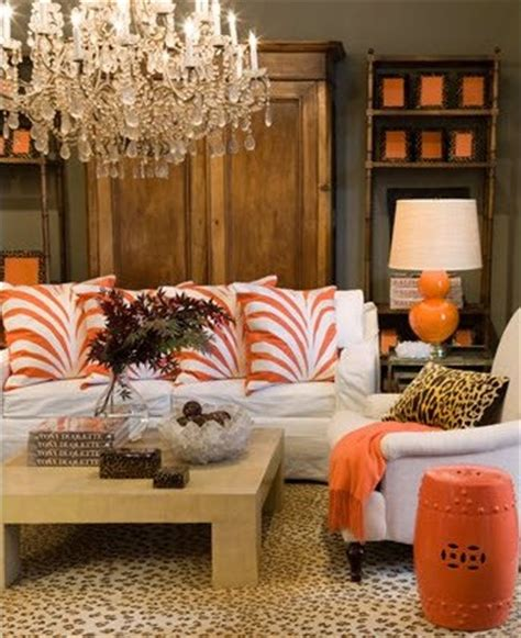 Orange And Grey Living Room by Eye For Design Decorating With Orange It S A Great