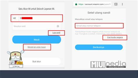 email xiaomi indonesia 2 cara sukses mengatasi lupa password mi cloud xiaomi