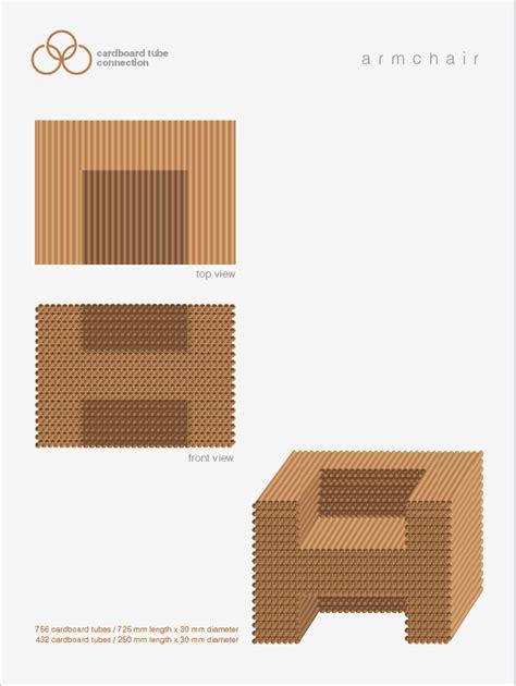 designboom cardboard cardboard tube armchair designboom com