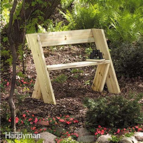 easy to make wooden benches build a wooden bench for less the family handyman