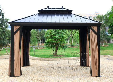 Hardtop Pavillon 3x4 by 3 3 6 Meter Deluxe High Quality Metal Canopy Sunjoy