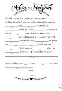 printable wedding mad libs template 14 free and printable wedding mad libs receptions