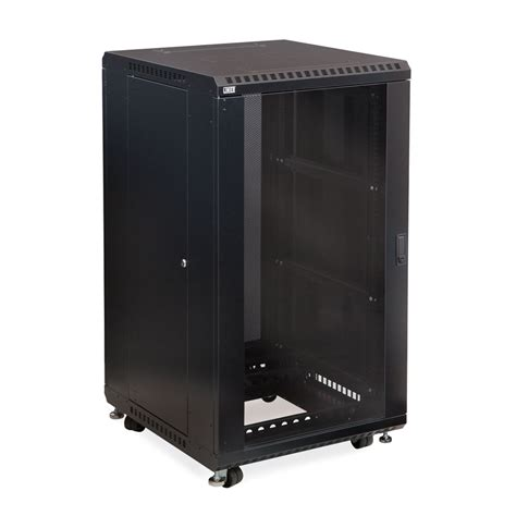 22u Server Rack Cabinet by 22u Server Cabinet With Front Glass And Rear Vented Doors