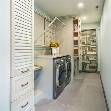 built in drying rack for laundry room a laundry