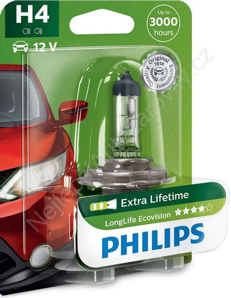 Philips Eco Vision H4 12v 60 55w Lu Mobil Tahan Lama philips longlife ecovision 12342llecob1 h4 p43t 38 12v 60 55w nejlepsiautozarovky cz