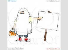 Boy Wearing a Halloween Ghost Costume While Pointing at a ... About:blank Free Halloween Clipart