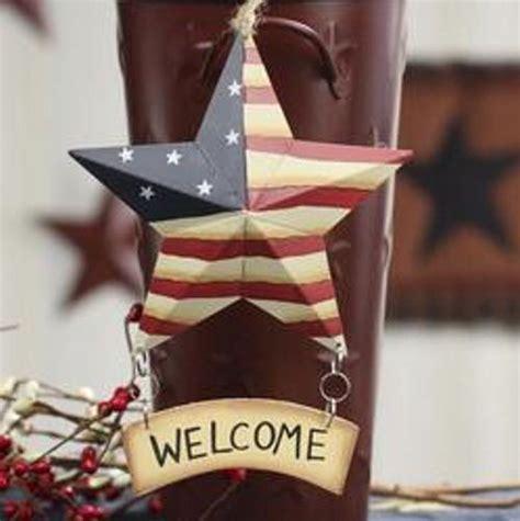 primitive americana barn star wall decor home decor americana flag metal barn star with wood welcome sign