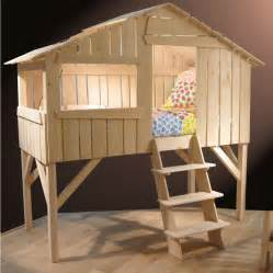 Bunk Bed Tree House Single Treehouse Bed Lime Wood