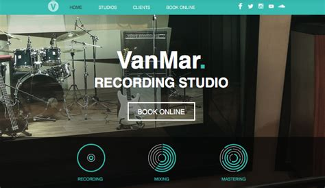Music Website Templates Wix 3 Wix Production Template