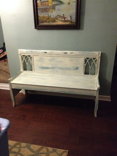 headboard into bench headboard turned into a bench furniture pinterest