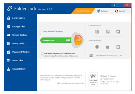 Full Version Of Folder Lock For Windows 10 | folder lock download