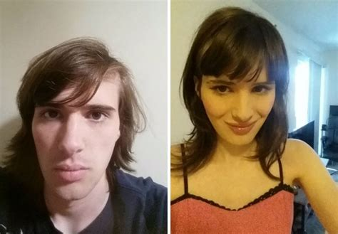 feminization male to female body transitions female hormones man documents incredible transformation into woman in 17