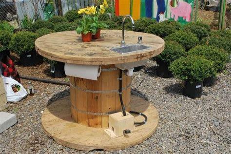 outdoor sink ideas off grid sink with foot petal five acres pinterest