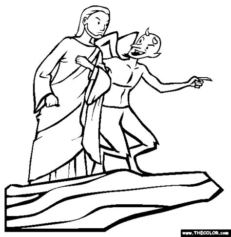 coloring pages jesus tempted desert jesus was tempted by satan but did not give in to