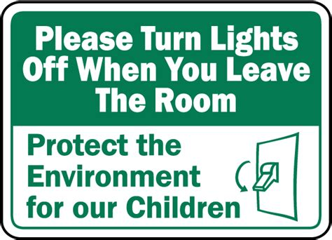 leave the room turn lights when leaving room sign f7516 by safetysign