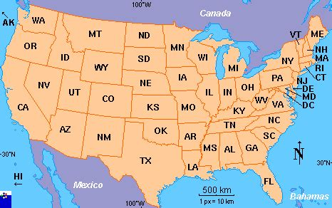 Show Me The Map Of The United States by Clickable Map Of The United States