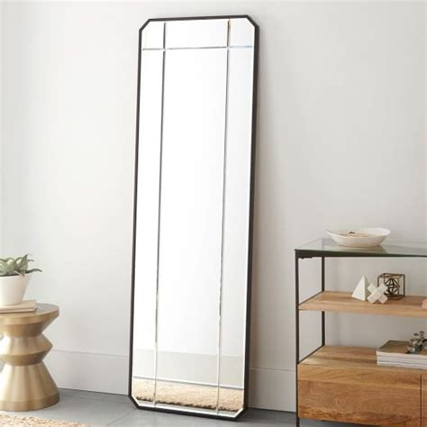 beveled floor mirror west elm