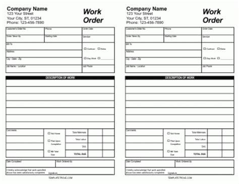 6 7 work order template titleletter