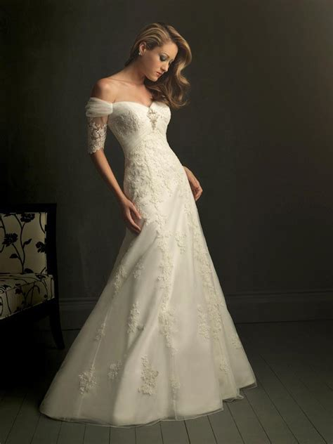 wedding dresses with the shoulder sleeves ivory v neck the shoulder unique wedding dresses with