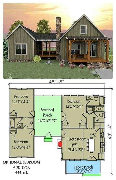 Cabin Floor Plans With Screened Porch | open floor plan with screened porch mountain home pinterest cabin house and porches