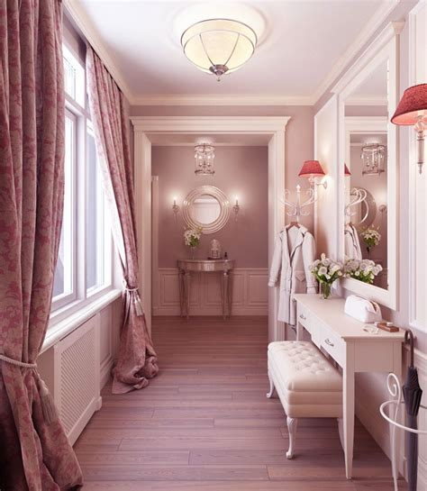 in the dressing room luxury feminine dressing room with wooden floor interior design ideas