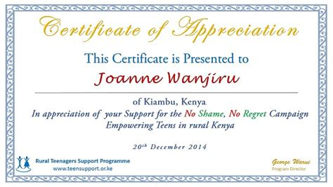 certificate of appreciation for donation template donation certificate template certificates for donors