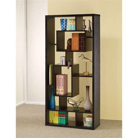 asymmetrical cube bookcase black