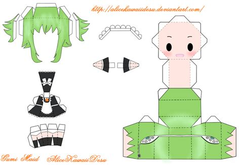 Vocaloid Papercraft - gumi papercraft by alicekawaiidesu on deviantart