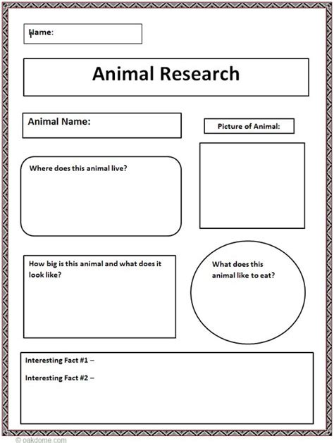 Research Paper Graphic Organizer High School by Common Animal Research Graphic Organizer Lesson Resources Computer Lab