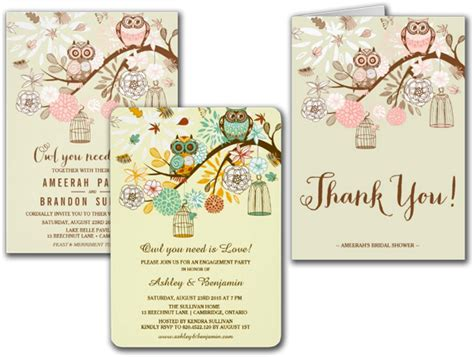 wedding cards and gifts owl you need is pink owls wedding invitation