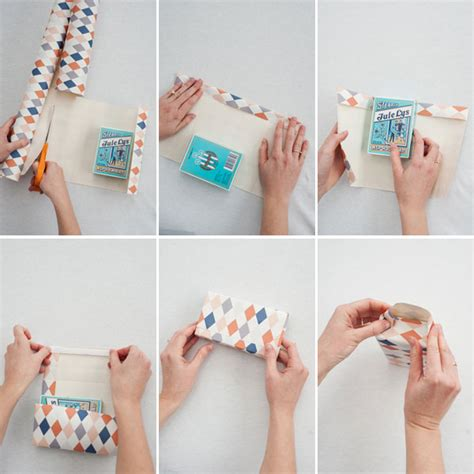 How To Make A Bag From Wrapping Paper - wallpaper gift bags diy