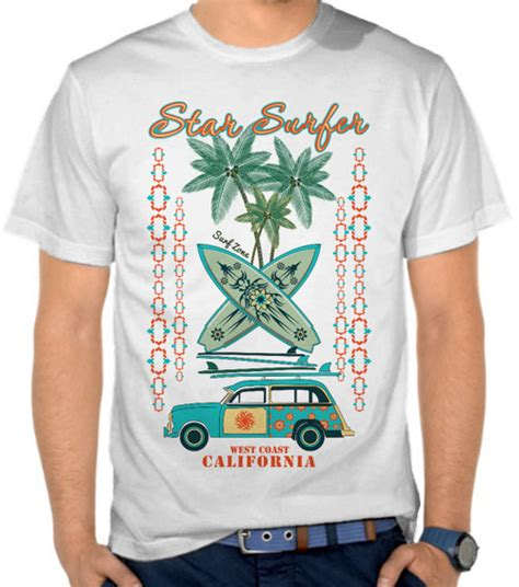 Kaos Distro Casual Surf Terbaru 0689 jual kaos surf zone california surfing selancar