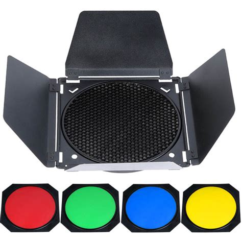 Barn Door Honeycomb Filter For Bowen Mount godox barndoor kit for bowens mount bd 04 b h photo