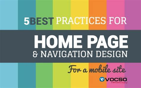 5 best practices for home page and navigation design for a