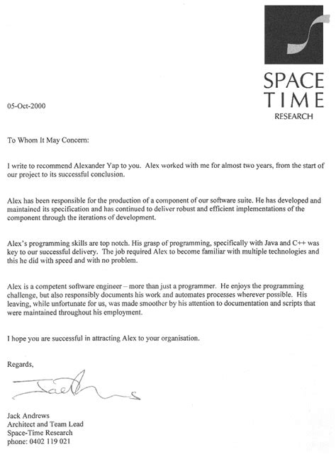 Research Reference Letter Personal Reference Letter For Coop Board Myideasbedroom