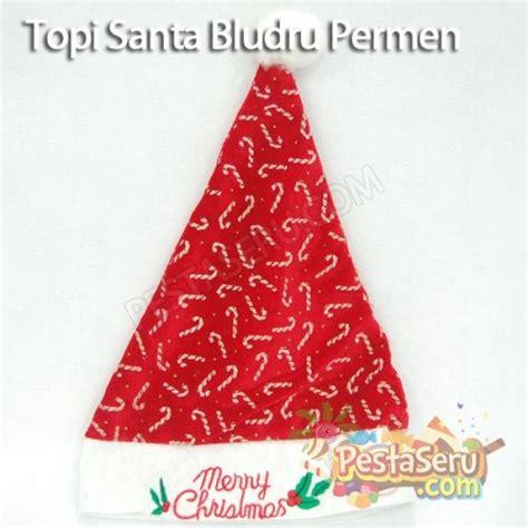 Cetakan Mini Natal topi santa bludru permen pestaseru toko grosir