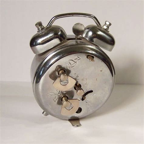 vintage twin bell wind  alarm clock