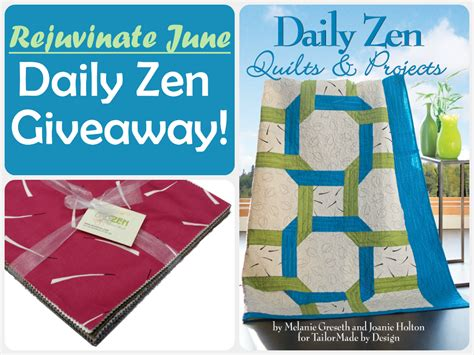 Daily Contests And Giveaways - rejuvenate june daily zen fabric and book giveaway quilt books beyond