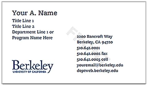 ucsf business card template uc storefront haas school of business